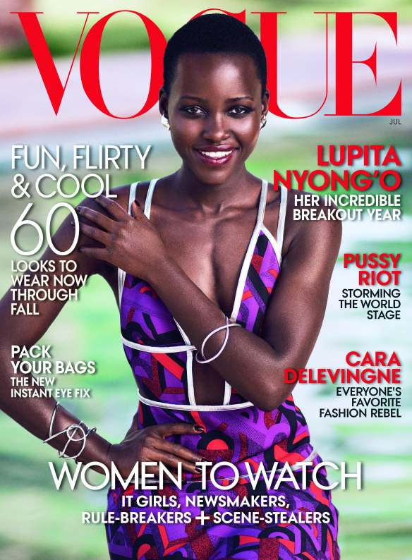 Lupita Nyong'o on the cover of the latest issue of Vogue, given to us on Friday