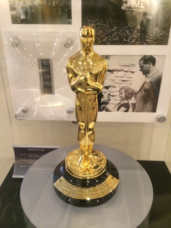 Time's Academy Award for the documentary 'The March of Time' in 1937