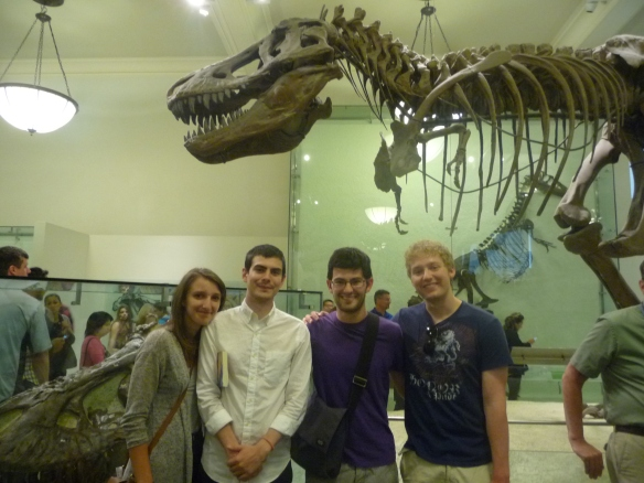 Friends and a T-Rex